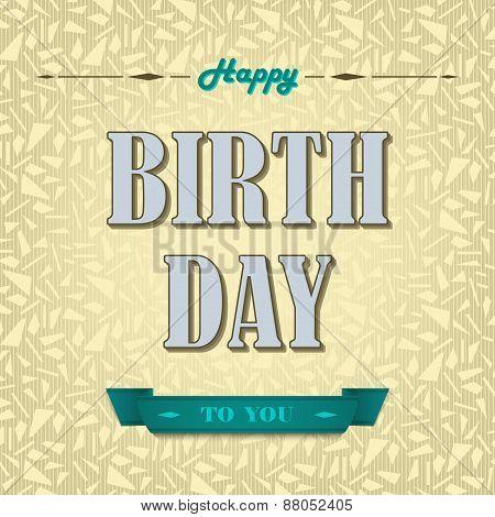 Happy Birthday Poster Background