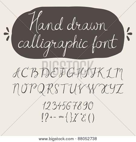 Alphabet. Hand drawn letters.
