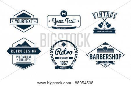 Digitally generated Vintage badge vectors