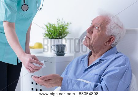 Retired Man In Hospital
