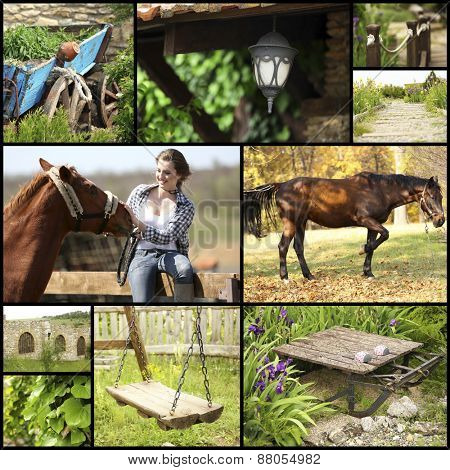 Countryside collage