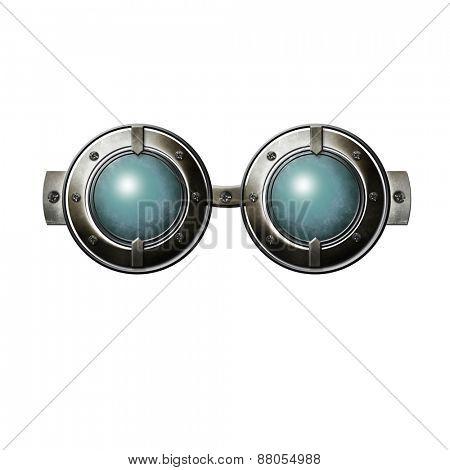 Fantasy blue glasses