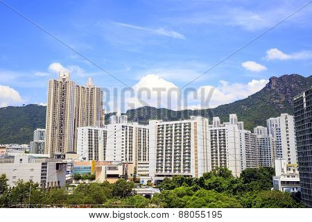 The cityscape of Lok Fu in Hong Kong