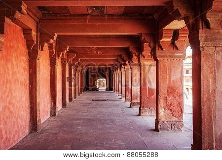 Ancient ruins of palace. Fatehpur Sikri, India