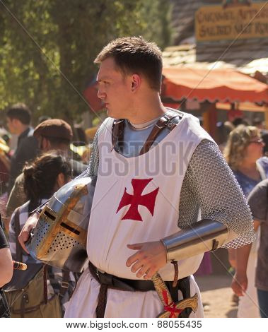 A Knight In The Crowd At The Arizona Renaissance Festival