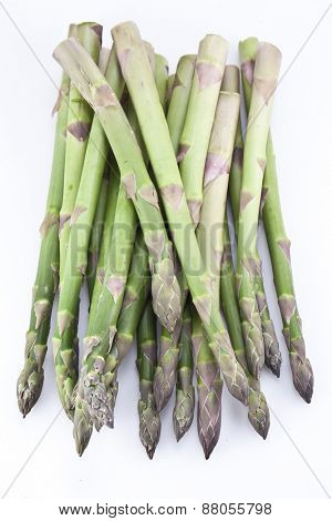Asparagus isolated on a white background.