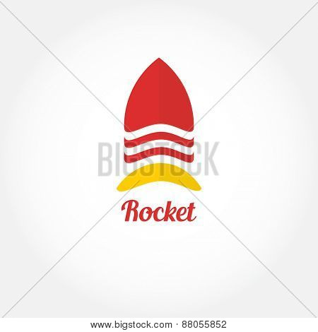 Vector rocket logo symbol. Rocket logotype icon for your business.