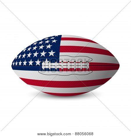 Football Flag Of Usa