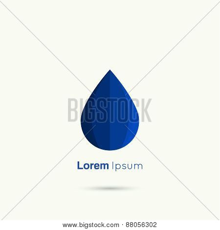 Blue Water drop abstract vector
