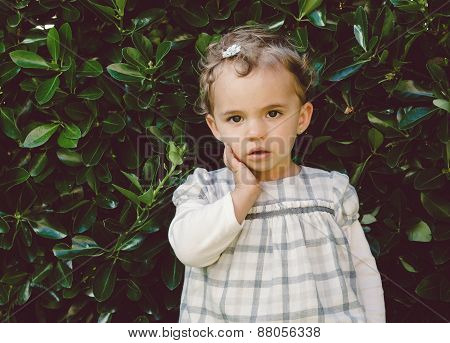 Little Girl Portrait In Nature