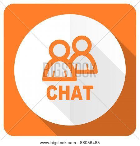 chat orange flat icon