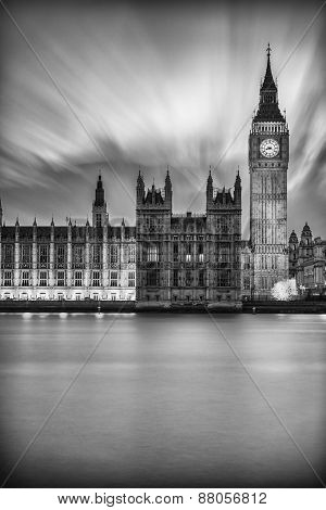 Big Ben After Sunset At Westminster In London