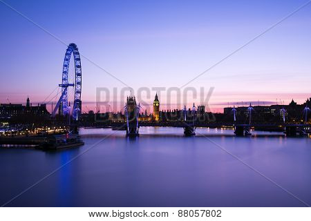 The City Of London With Its Magnificent Skyscrapers