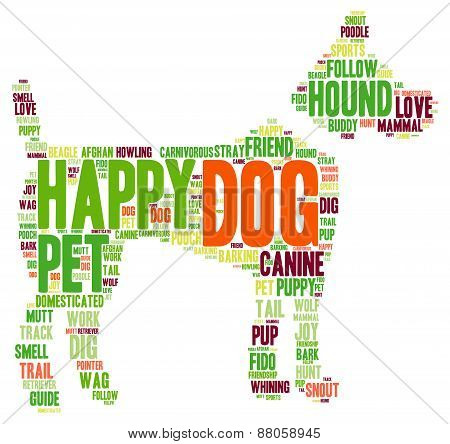 Dog Shaped Dog Word Cloud