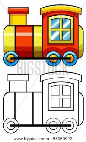 Close up doodles toy train