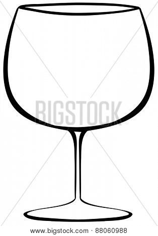 Close up classic design of wineglass