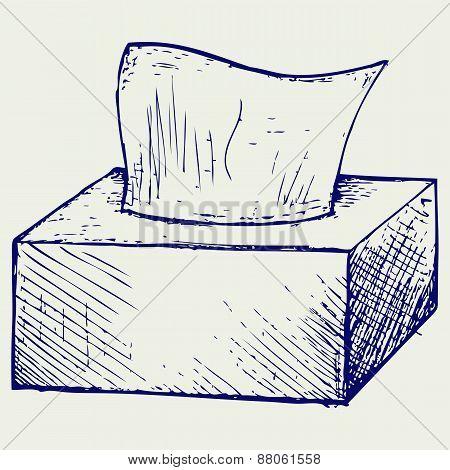 White tissue box