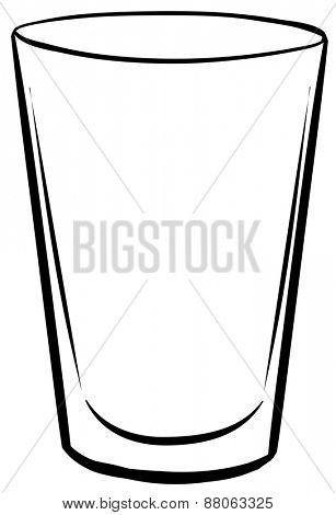 Single glass with no drink inside