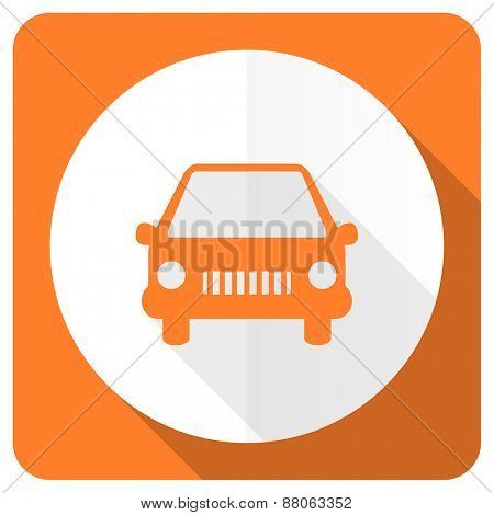 car orange flat icon auto sign