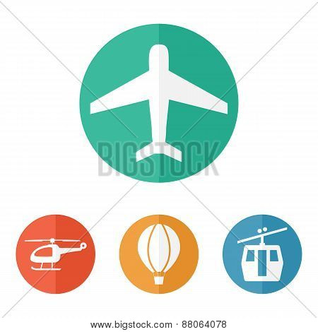 Airline Service Transport Related Icons