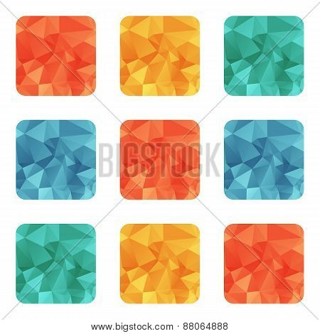 Vector Design Bright Wrinkled Elements