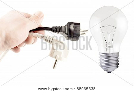Plug In Your Hand, Incandescent Lamp