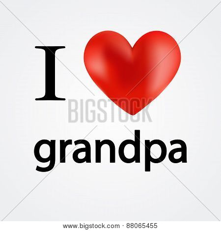 Card i love grandpa