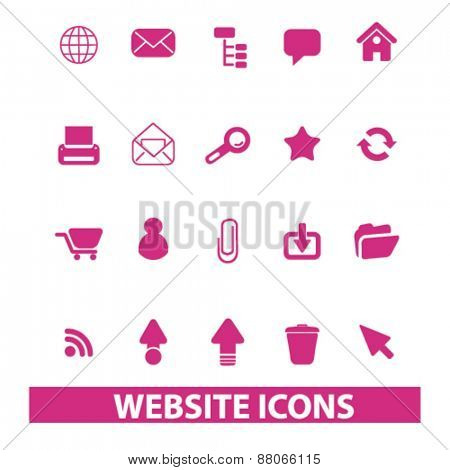 website, internet isolated icons, signs, symbols, illustrations web design template concept set on white background for website, application