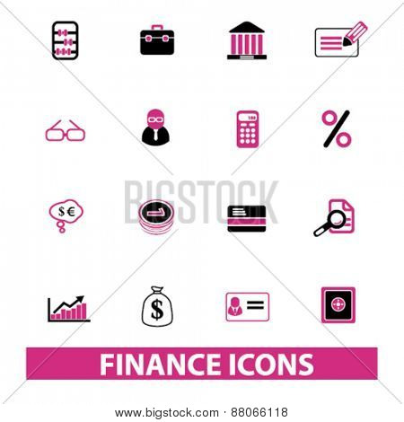finance icons set, vector
