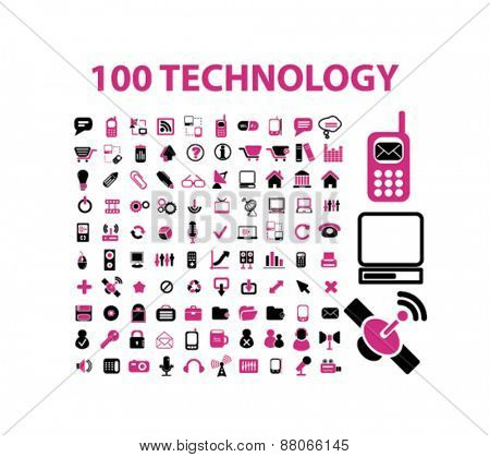 technology, communication, connection, internet, network, phone isolated icons, signs, symbols, illustrations web design template concept set on white background for website, application