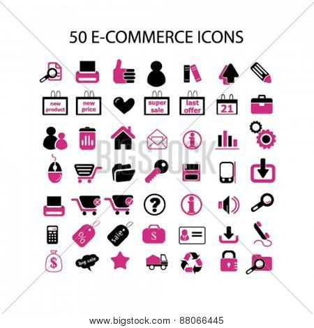 internet, online retail, commerce, shop, store isolated icons, signs, symbols, illustrations web design template concept set on white background for website, application