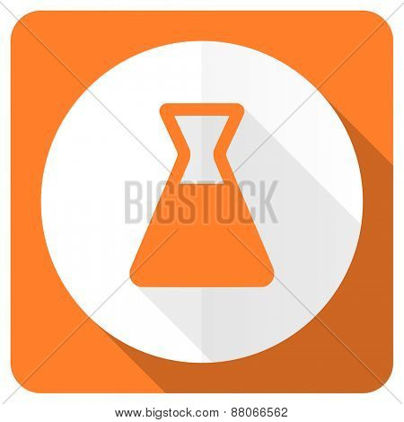 laboratory orange flat icon