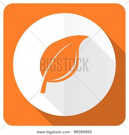 nature orange flat icon leaf sign