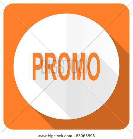 promo orange flat icon