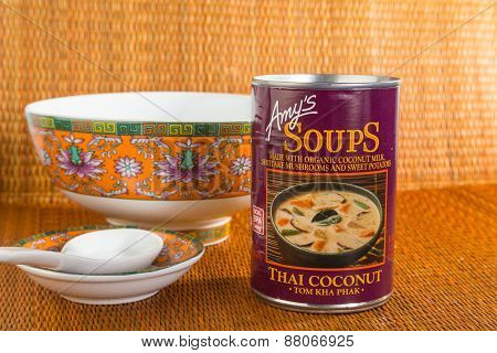 Thai Coconut Soup (tom Kha Phak)