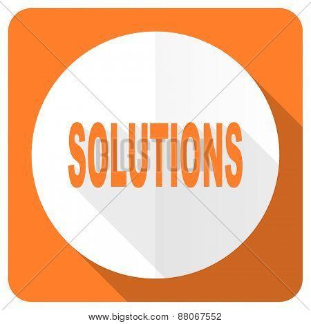 solutions orange flat icon