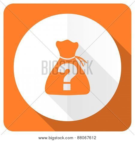 riddle orange flat icon