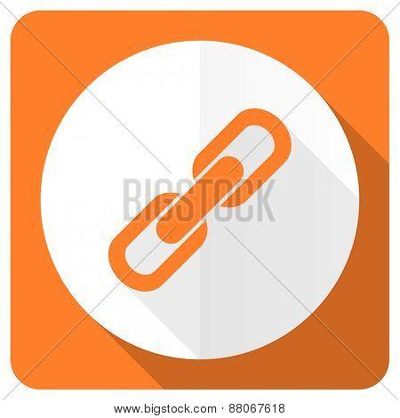 link orange flat icon chain sign