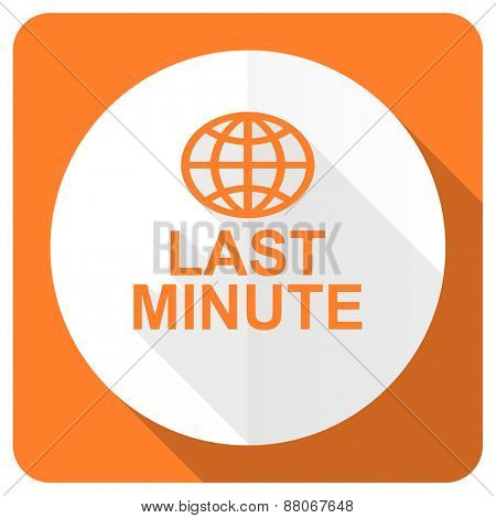 last minute orange flat icon