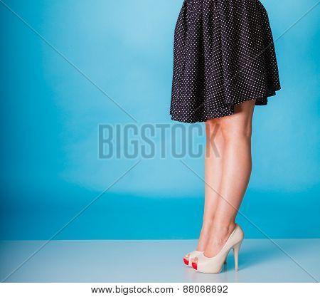 Sexy Woman Legs In High Heels.