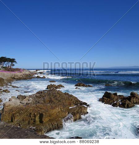 Rocky Coast And Blue Sky