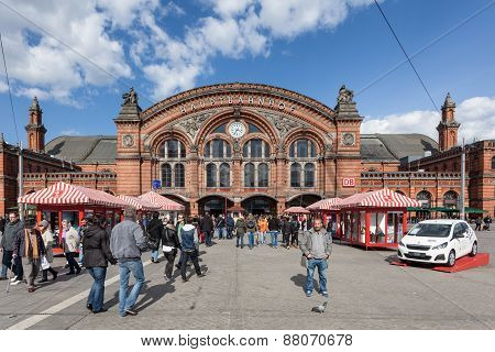 Central Train Station In Bremen