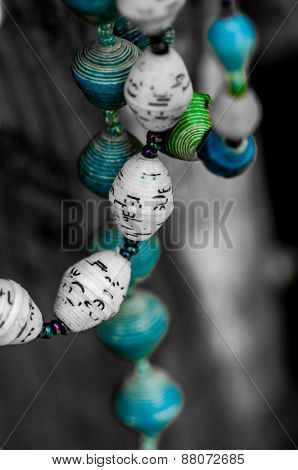 Paper Beads Necklaces