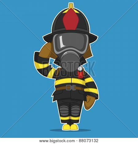 Firefighter salutes
