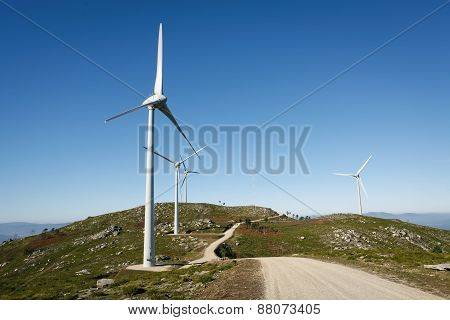 Modern Wind Energy - Stock Image