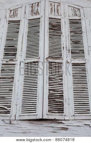 Abandoned Building White Window
