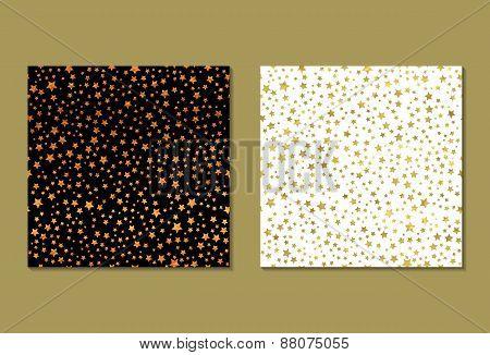 Set of 2 gold patterns