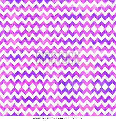 Watercolor seamless chevron pattern