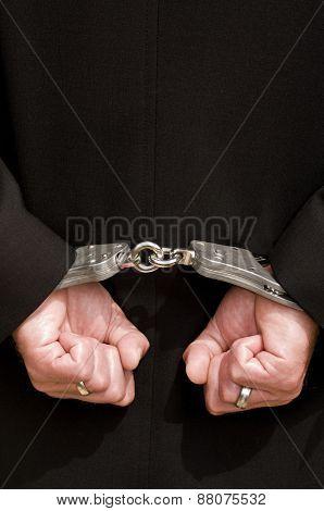 Hands handcuffs