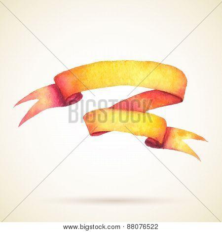 Watercolor Ribbon